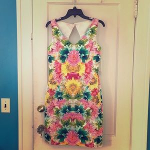 New lovely Mirror floral cocktail dress